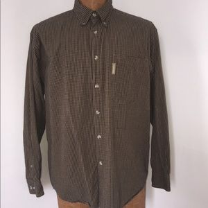 Columbia button down checkered shirt size large.